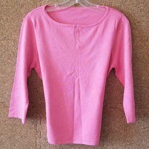 Tops - Pink 3/4 Sleeve Shirt